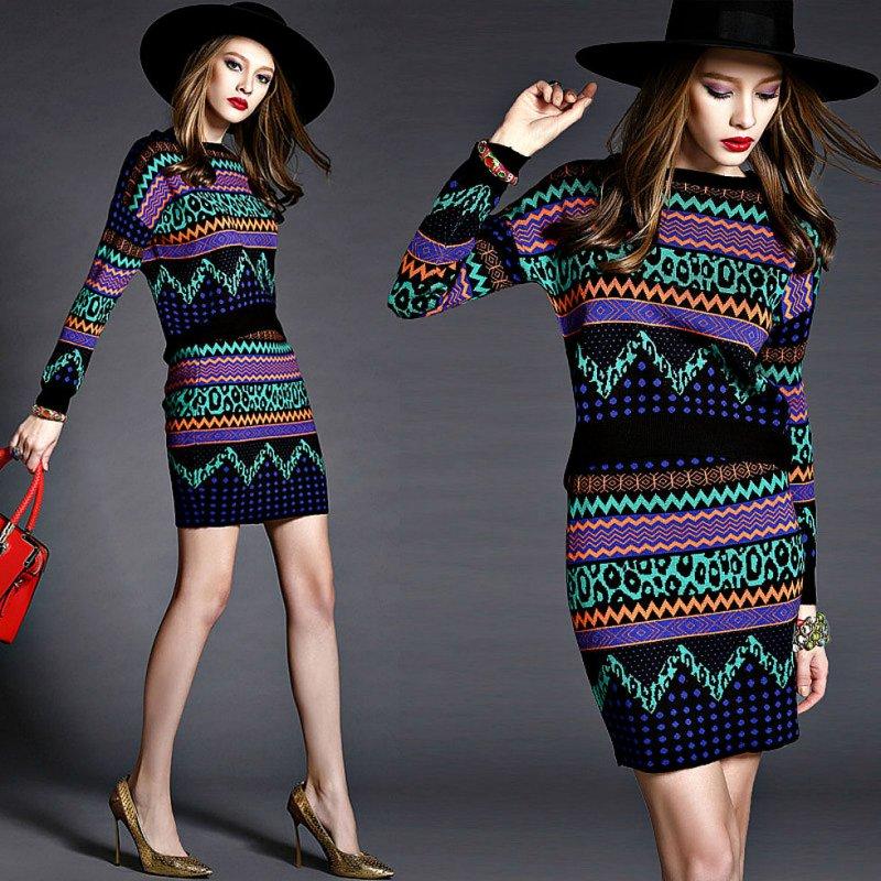 Набор Зимние вязаные блузки и юбки