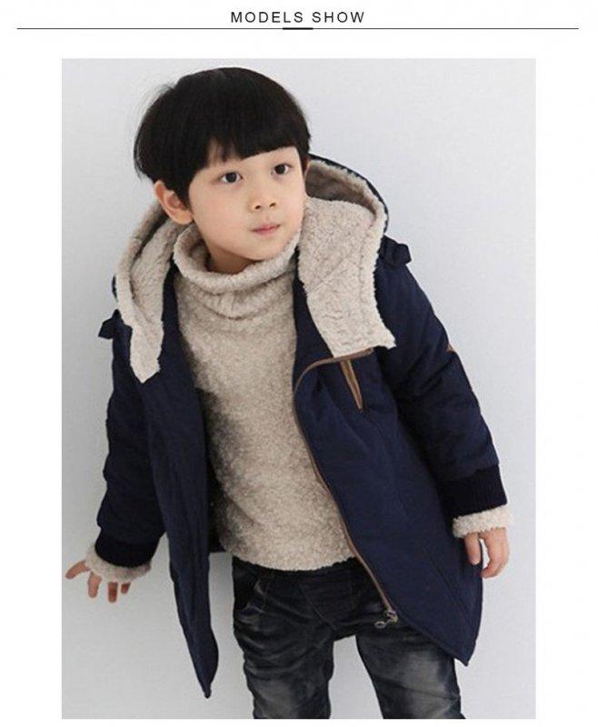 Детские модные куртки для мальчиков с капюшоном и длинным рукавом.