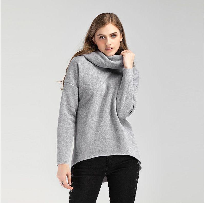 Зимние толстовки-пуловеры с капюшоном (шарф) с длинным рукавом для женщин