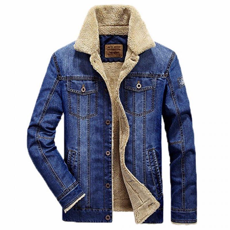 Брендовая, толстая, теплая, модная мужская джинсовая куртка