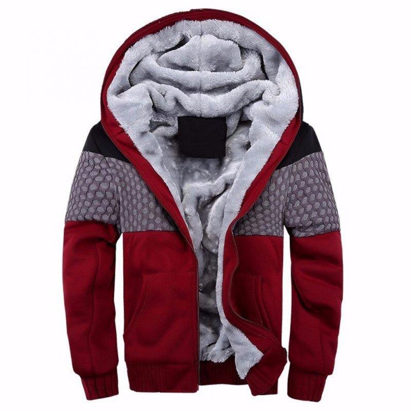 Мужская зимняя утолщеная флисовая куртка.