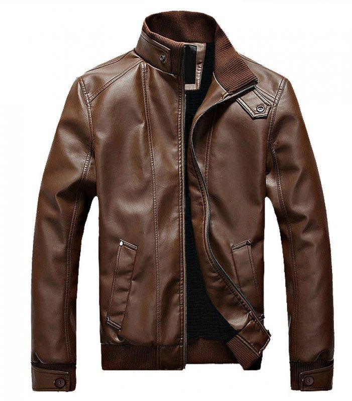 Купить Меховая мужская кожаная куртка.