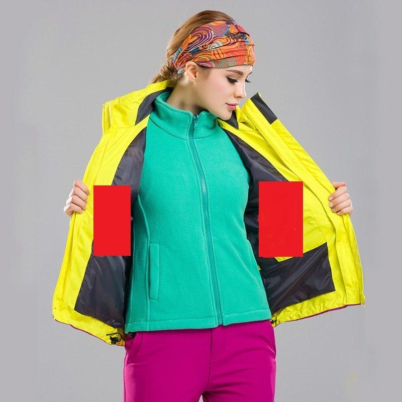 Женская водонепроницаемая, походная куртка с подогревом-(Лыжный Спорт)
