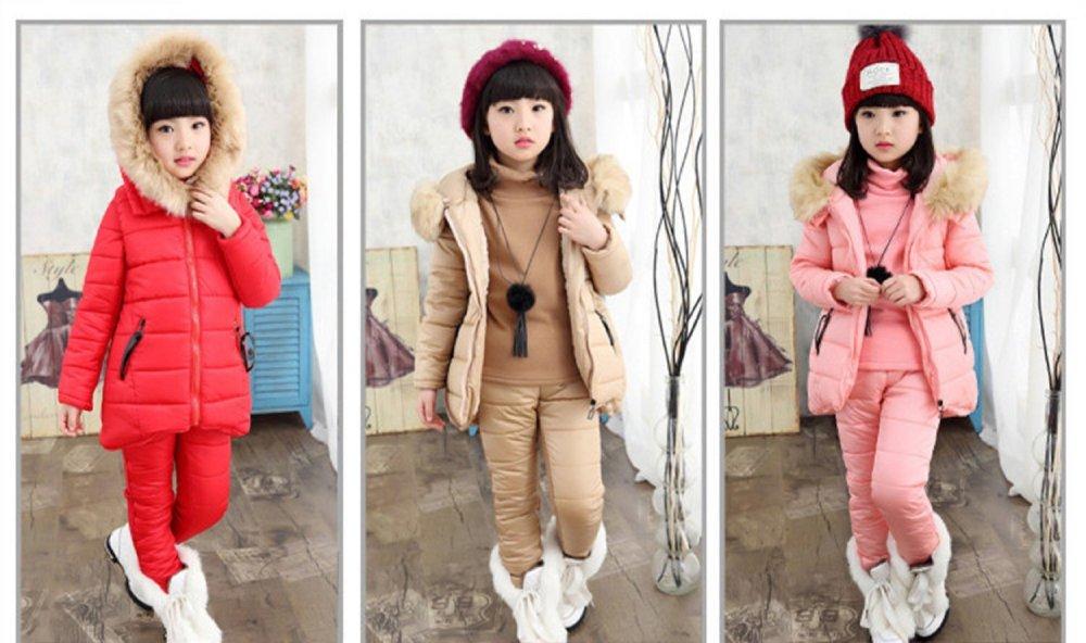 Для девочек Зимние комплекты одежды с капюшоном