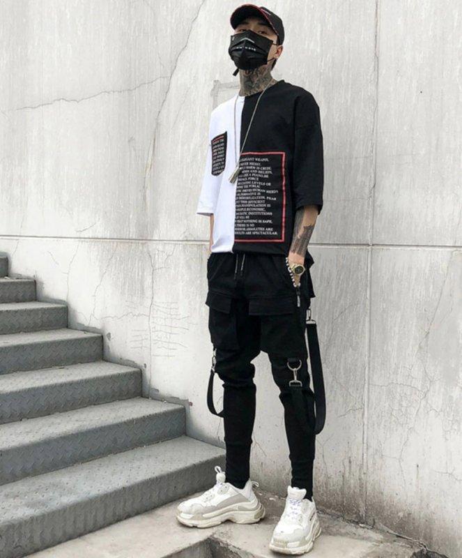 Мужские брюки (хип-хоп) карандаш с боковыми карманами