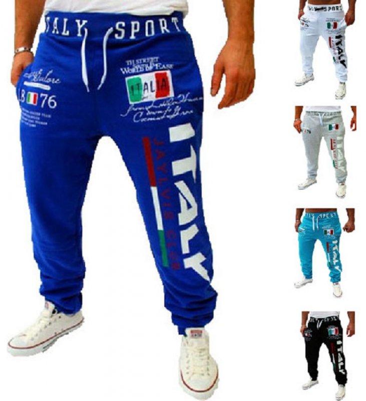 Мужские штаны с принтом итальянского флага