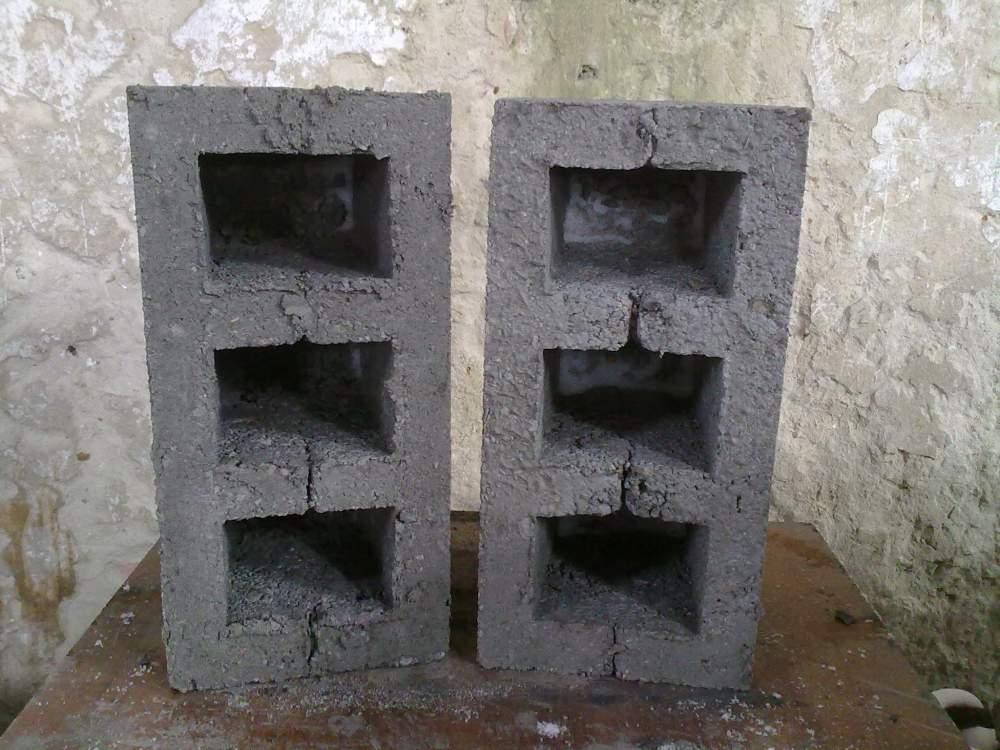 Купить Блоки строительные, Шлакоблоки вибропрессованные 390х190х190