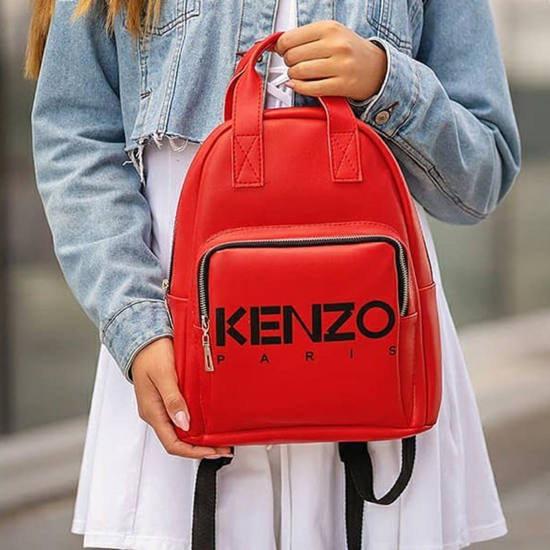 Стильный женский рюкзак KENZO Красный