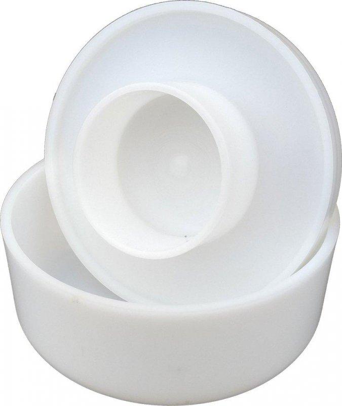 Купити Форма для твердого сиру з поршнем Ø220 мм на 2,3 кг пластикова (ПП КВВ)