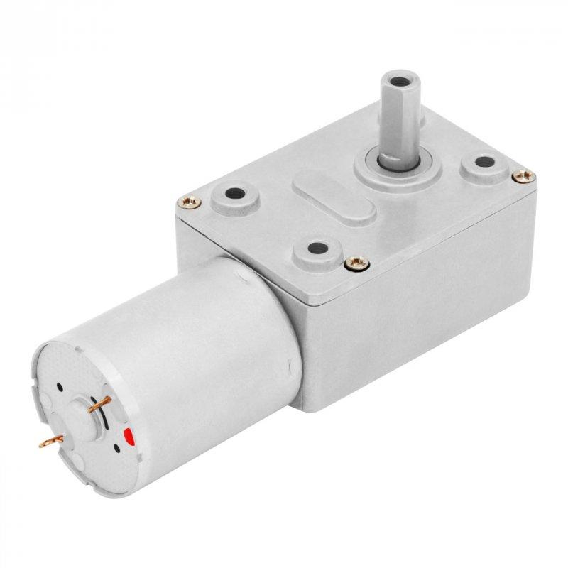Купить Мотор-редуктор червячный JGY-370-12V-0.6R (12 В, 1.7 Вт, 0.6 об/мин)