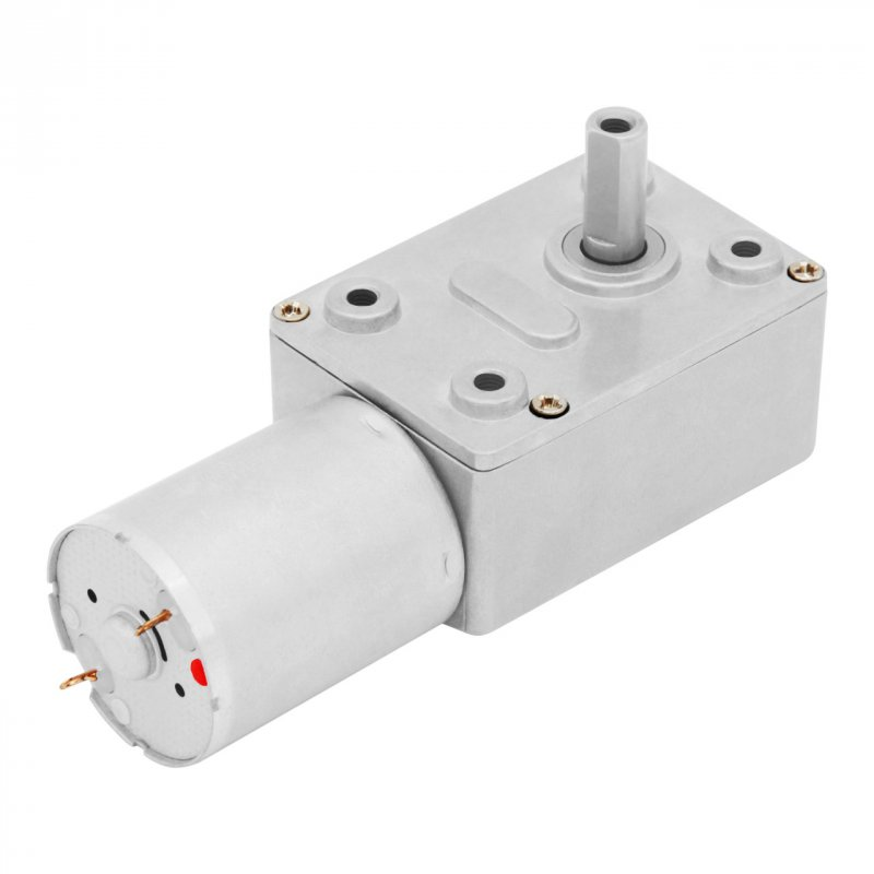 Купить Мотор-редуктор червячный JGY-370-12V-24R (12 В, 1.7 Вт, 24 об/мин)