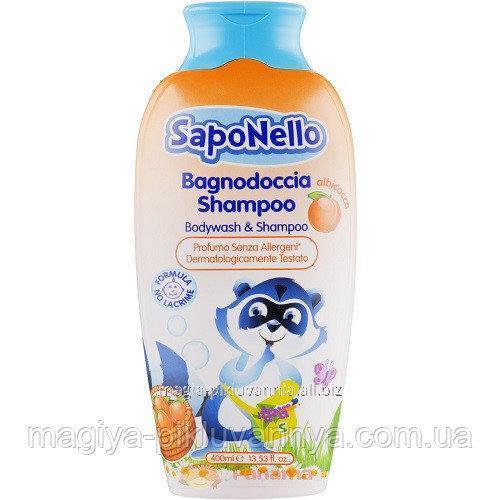 Купити Paglieri SapoNello Doccia Дитячий Шампунь і гель для душу Абрикос 400 мл, арт.13386