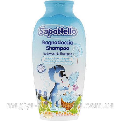 Купити Paglieri SapoNello Doccia Дитячий Шампунь і піна для ванни Солодка вата 400 мл, арт.13515
