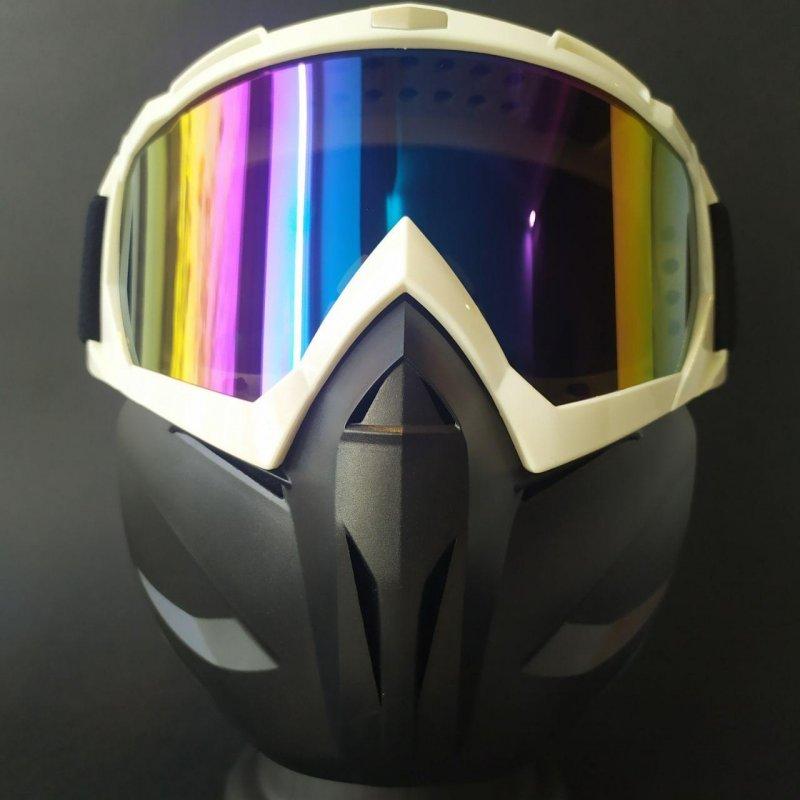 Купить Лыжные очки HXS лыжная маска белая с защитой VIP