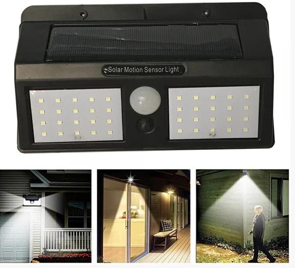 Купить 40 LED Уличный фонарь на солнечной батарее с датчиком движения 1626A