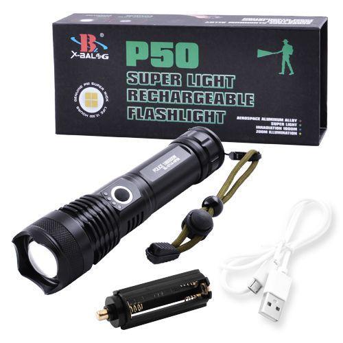 Купить Мощный ручной фонарь Police X71-HP50, ЗУ microUSB