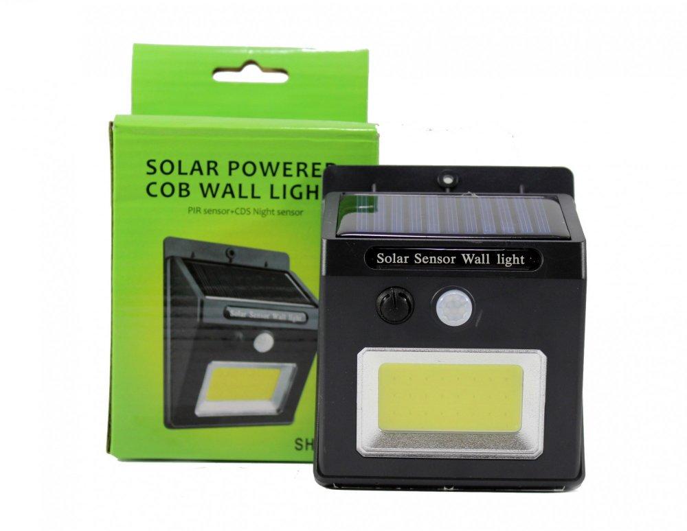 Купить LED фонарь с датчиком движения и солнечной батареей COB 1605 48 диодов