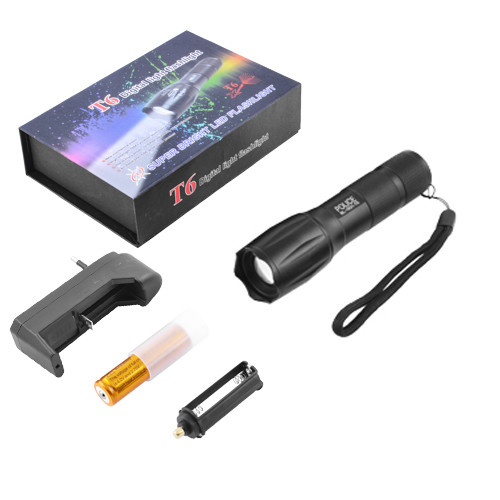 Купить Тактический фонарь Bailong Police 1831-T6, ЗУ 220V/12V, 1х18650/3хААА, zoom, Box