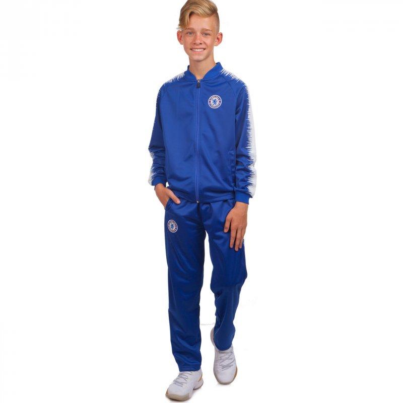 Купить Костюм спортивный детский Клубный CHELSEA LD-6112T-QEX размер 26-32 синий-белый