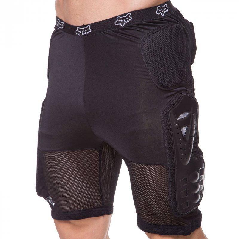 Купить Шорты защитные с защитой поясницы для экстремальных видов спорта FOX M-4533 (PL, PVC, р-р M-XL, черный)