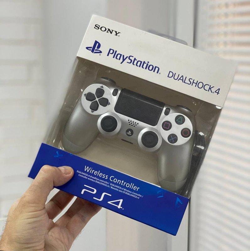 Беспроводной Геймпад Sony PlayStation Dualshock 4 V2 Серебряный