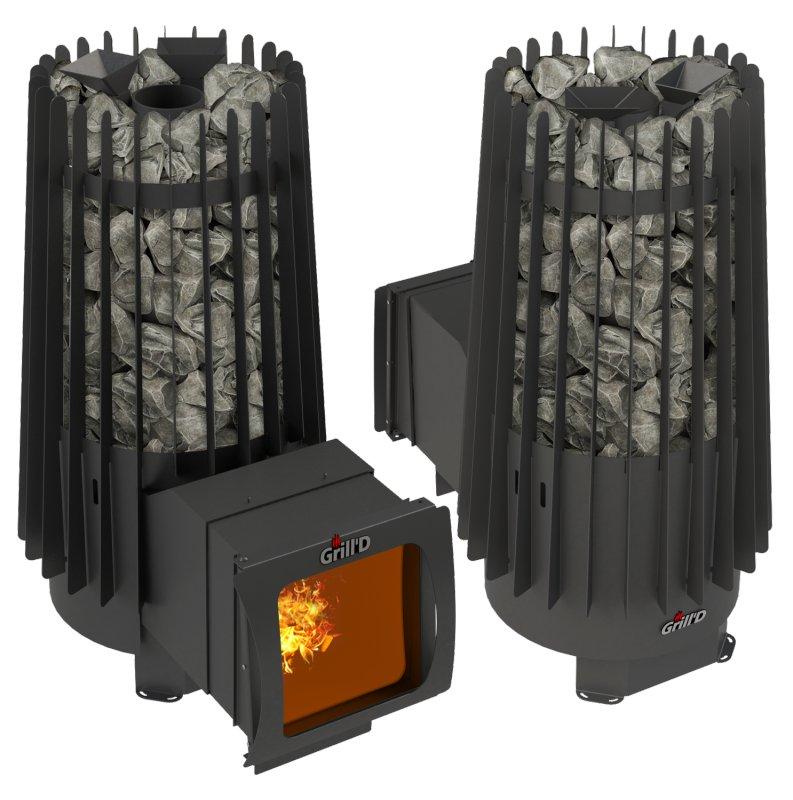 Дровянная печь для бани Grill'D Cometa 180 Vega Long Window Max