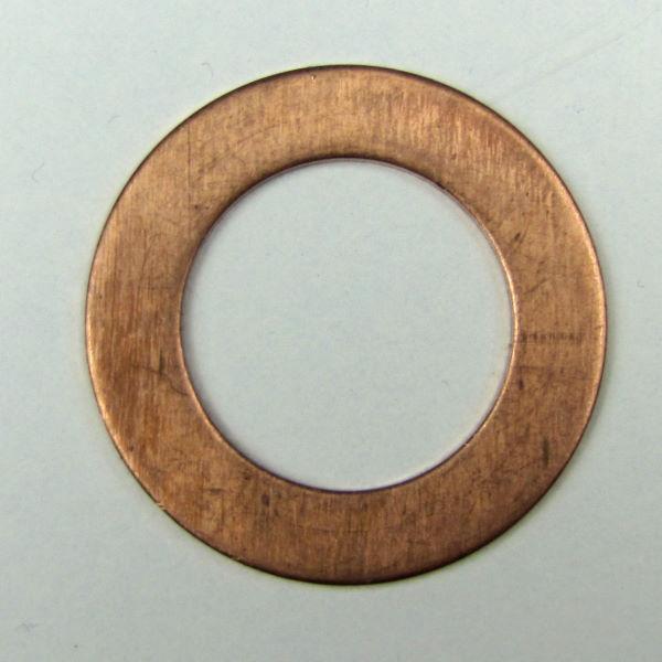Купить Шайба плоская М8х14х1 медь (масляная трубка)