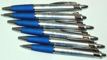 Ручки шариковые пластиковые с нанесением логотипа