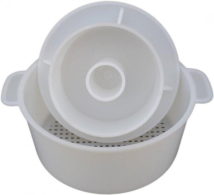 Купити Форма для сыра с поршнем Ø160 мм на 1,5 кг пластиковая (ЧП КВВ)