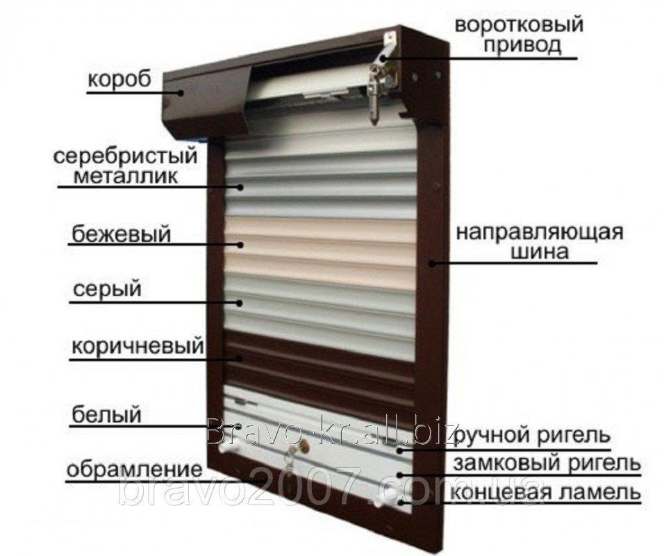 Купить Рольставни защитные (ламель — 55 мм)