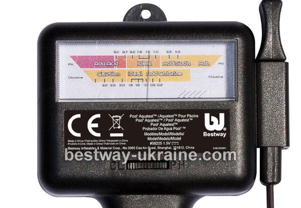 Купить Электронный тестер для бассейна Bestway Pool Aquatest 58225 - определения уровня pH и уровня хлора