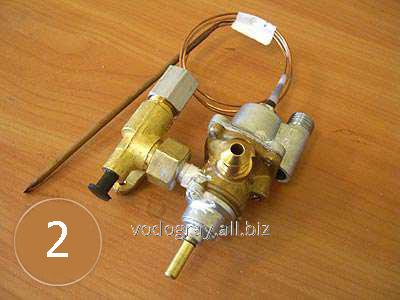 Газовый кран с клапаном для