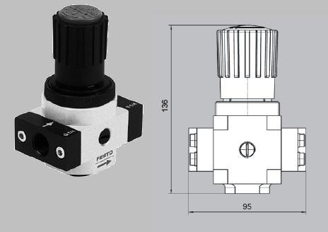 Купити Регулятор високого тиску LR-1/2-D-20-MIDI-HD-SA Замовлений номер 230 726а