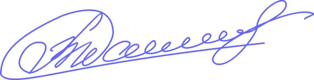 Факсимиле с личной подписью