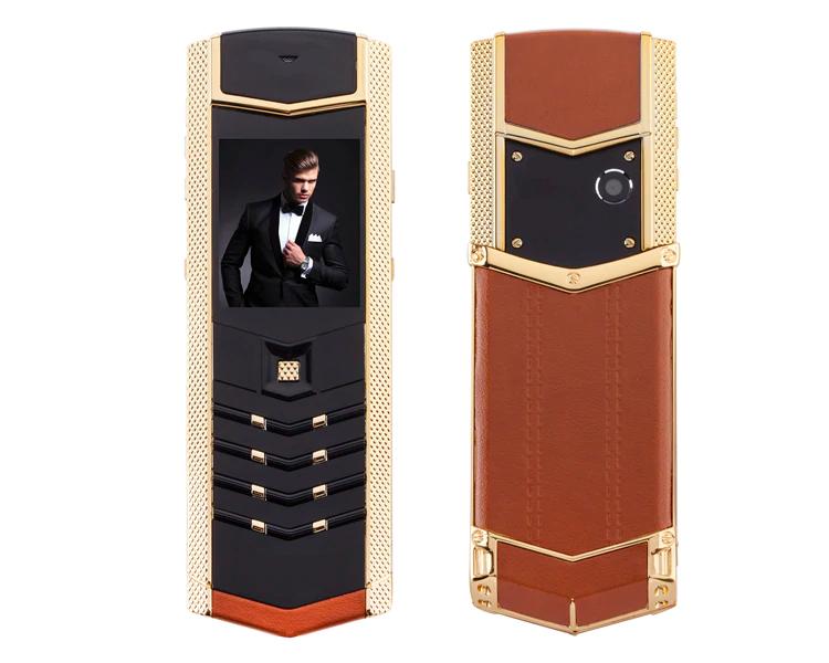 Купить H-Mobile V1 (Hope V1) brown-gold. Vertu design Мобильный телефон