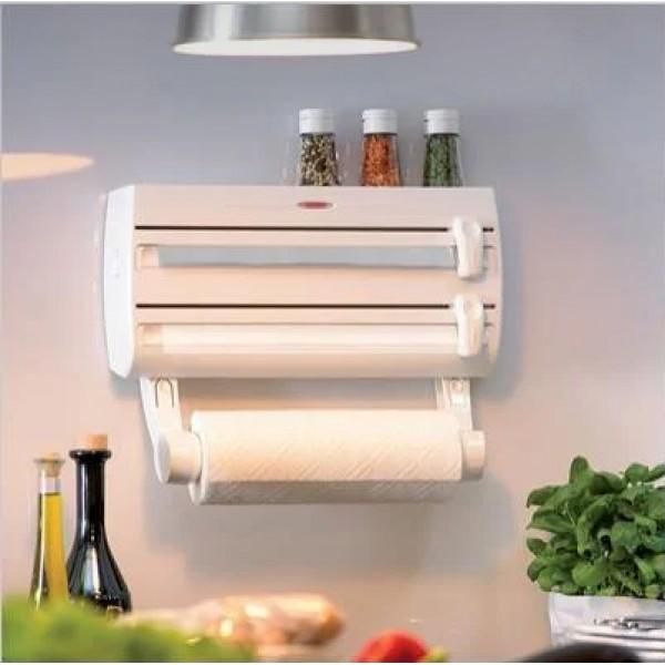 Купить Кухонный тройной держатель Triple Paper Dispenser 3 в 1 для бумажных полотенец пищевой пленки и фольги