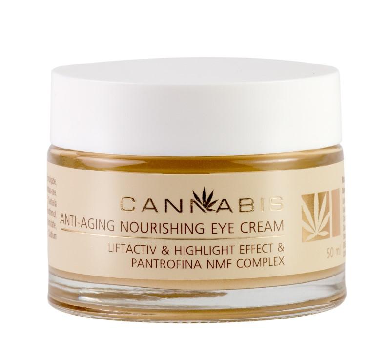 Buy Anti-aging nourishing eye cream with Pantrofina NMF complex and cannabis extract