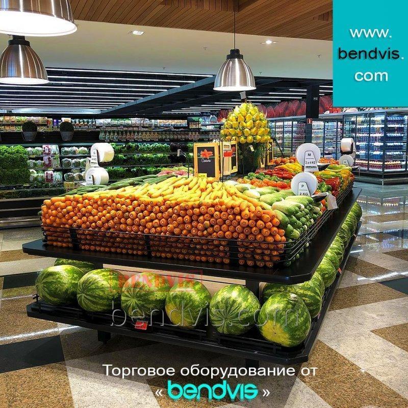 Металлические стеллажи для овощей и фруктов