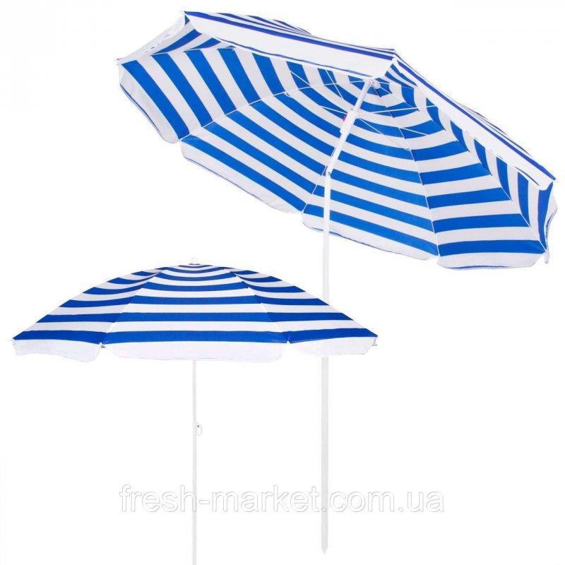 Купить Пляжный зонт с регулируемой высотой и наклоном Springos 180 см BU0008 SKL41-252492