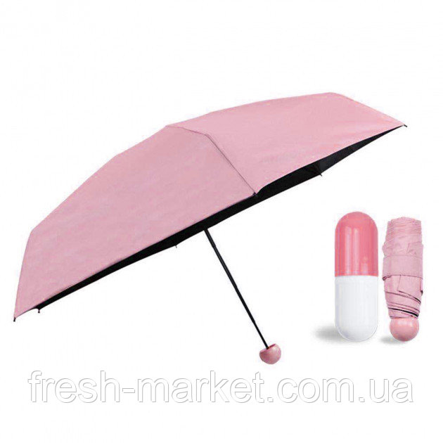 Купить Мини-зонт в капсуле Capsule Umbrella mini pink SKL11-261356
