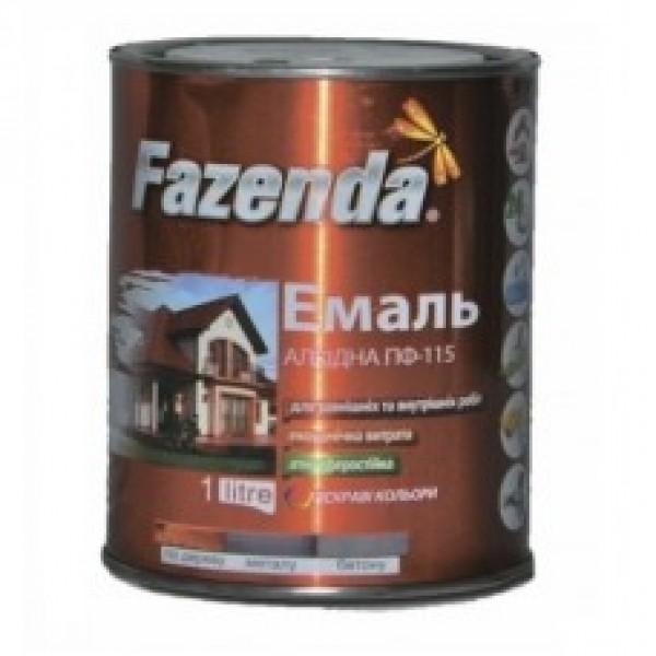 Купить Эмаль ПФ-115 Fazenda белая банка 2,8 кг