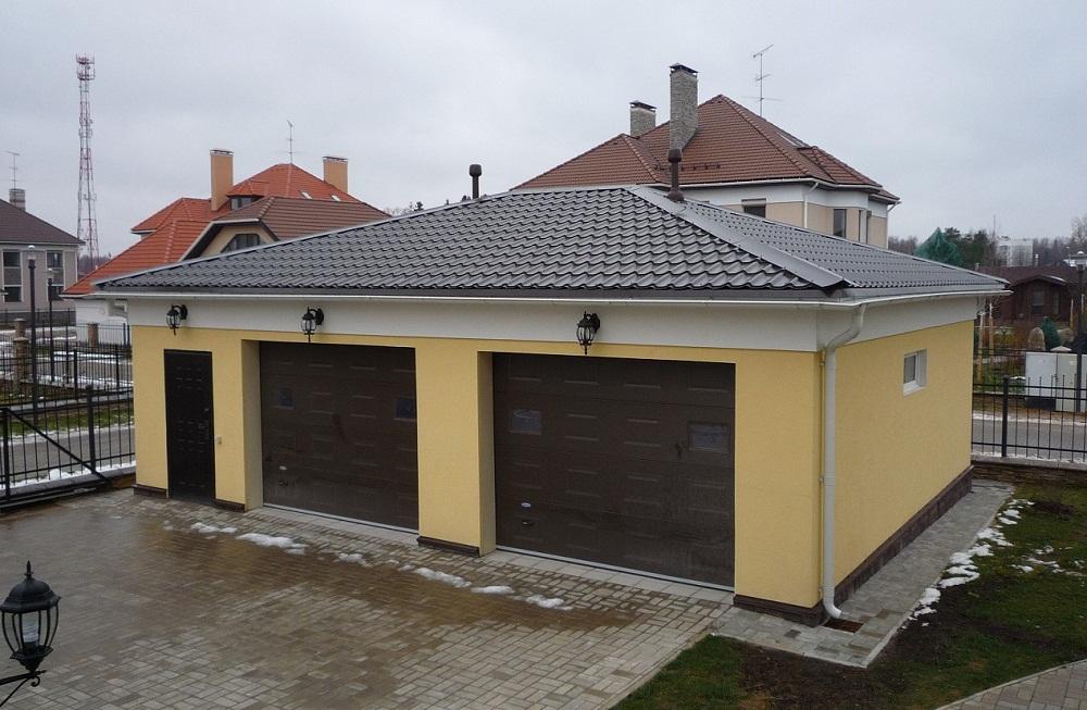 Крыша для гаража своими руками фото