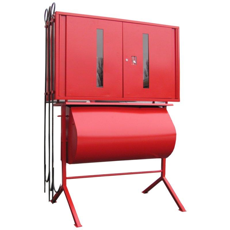 Купить Пост пожарный закрытого типа с ящиком для песка