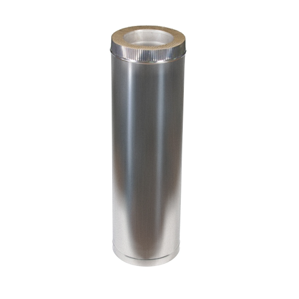 Купить Дымоход из оцинковки Kraft 150/220 мм (нержавейка в оцинковке) и утепление минеральная вата