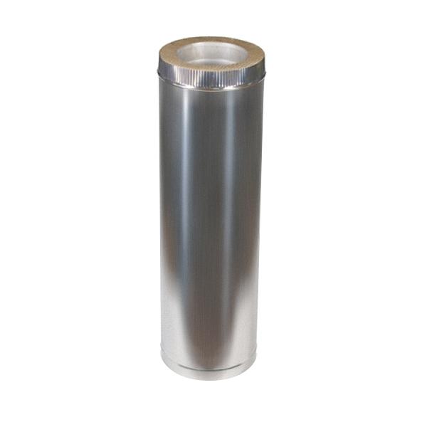Купить Дымоход из оцинковки Kraft 400/460 мм (нержавейка в оцинковке) и утепление минеральная вата