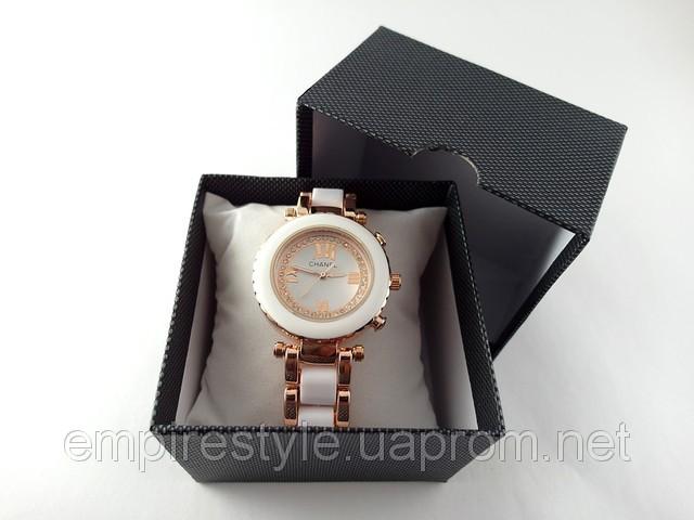 bfb232f8 Женские часы красивые Chanel белые с золотом кристаллы купить в Киеве