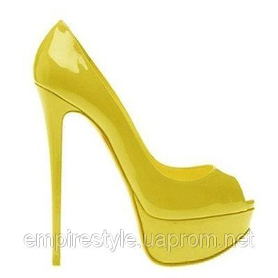 Жіночі жовті лаковані туфлі на шпильці купити в Київ 8779a7ea3e1b5