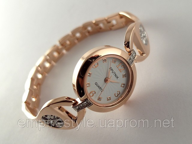 6f6d59c1 Женские часы-браслет Sputnik золото купить в Киеве