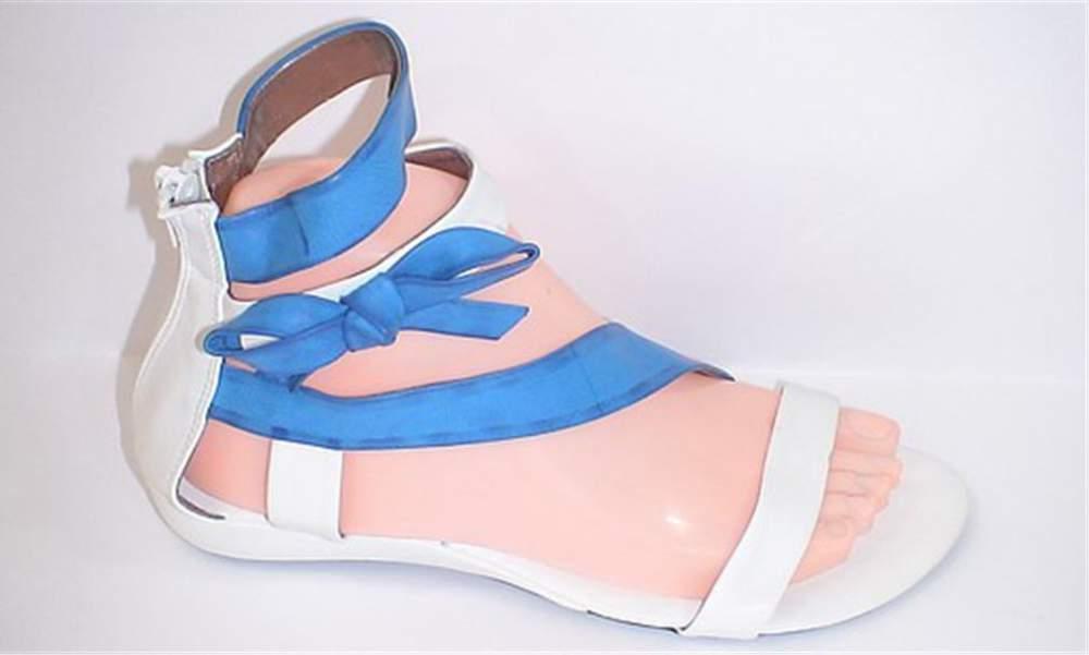 Купить Женские летние босоножки цвет белый и синий 10026