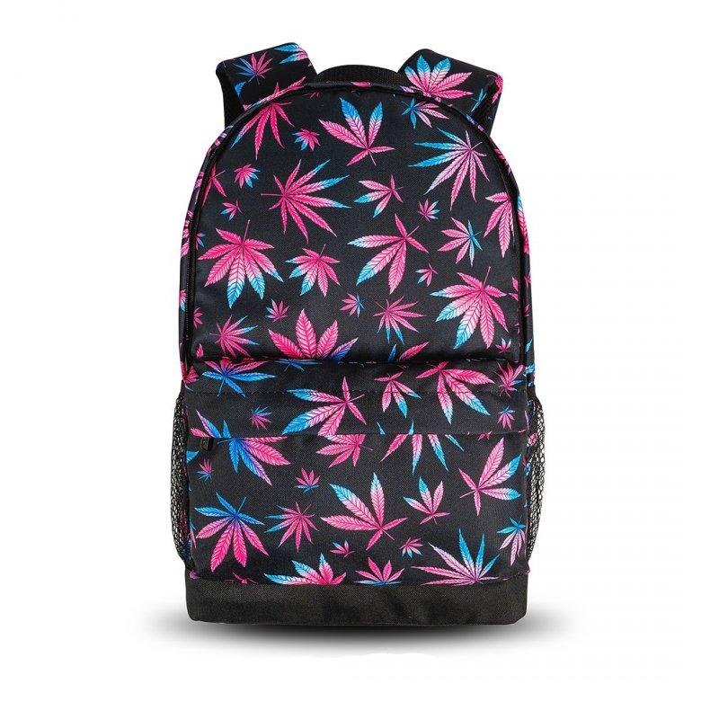Городской рюкзак с принтом Конопля цветной